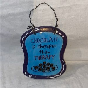 Other - Chocolate Therapy Hanging Plaque